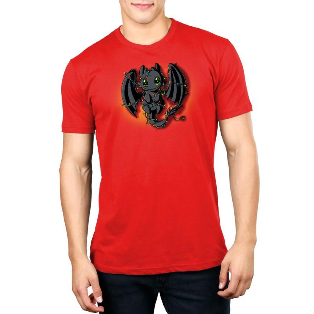 Tangled Up Toothless Standard T-Shirt Model How to Train Your Dragon TeeTurtle