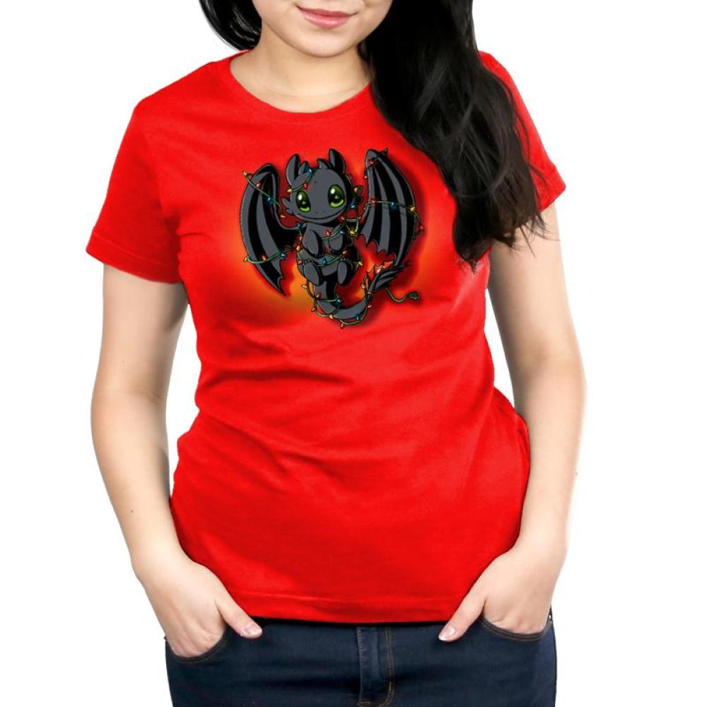 Tangled Up Toothless Women's Relaxed Fit T-Shirt Model How to Train Your Dragon TeeTurtle