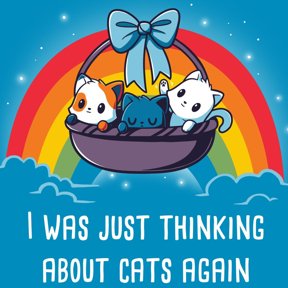 Thinking About Cats T-Shirt TeeTurtle