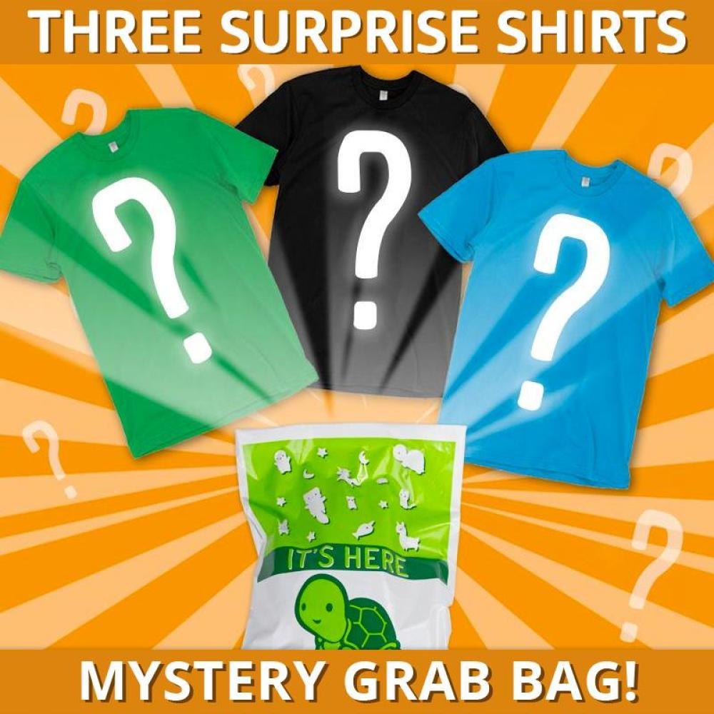 bc56ec25 Mystery Grab Bag | Funny, cute & nerdy t-shirts - TeeTurtle