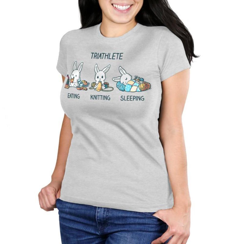 Triathlete (Crafting) Juniors T-Shirt Model TeeTurtle
