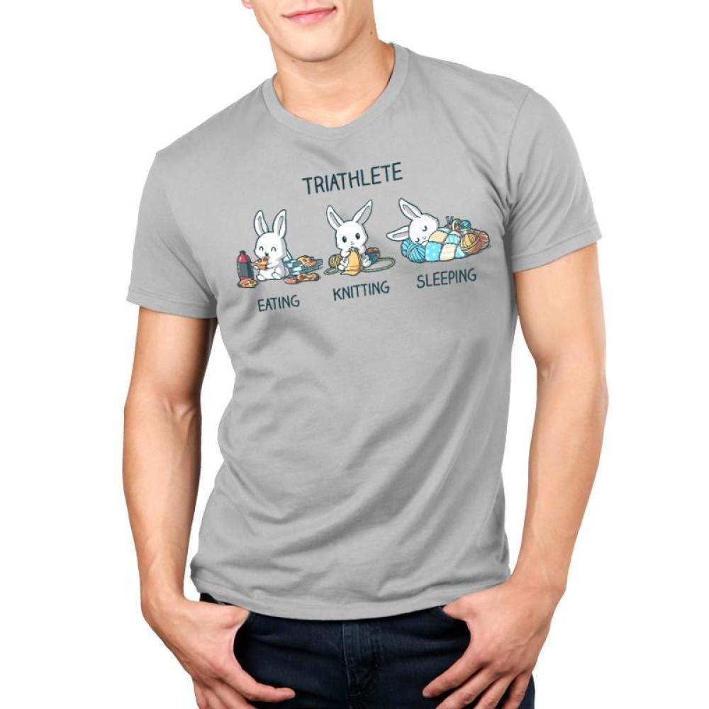 Triathlete (Crafting) Men's T-Shirt Model TeeTurtle