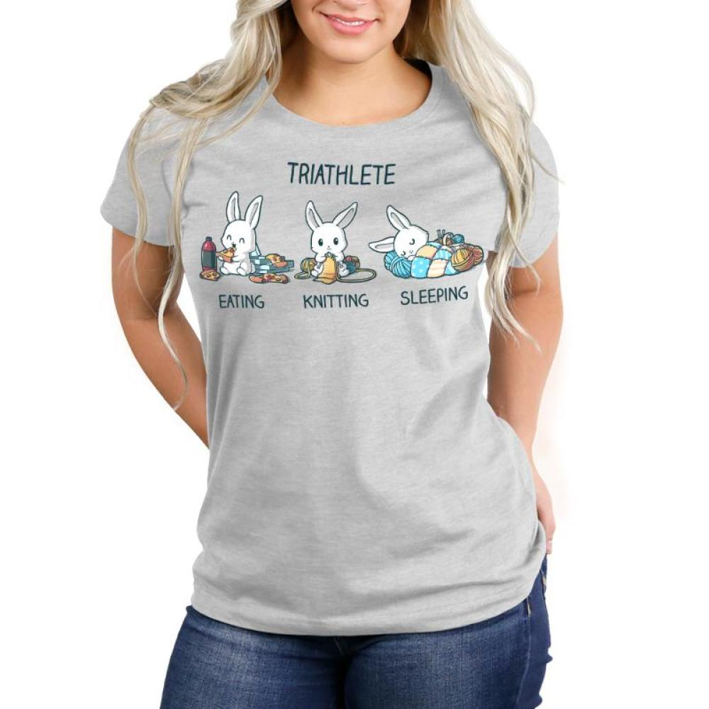 Triathlete (Crafting) Women's T-Shirt Model TeeTurtle