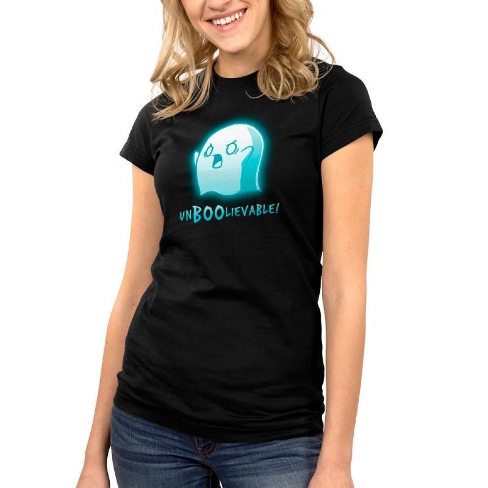 Un-Boo-Lievable Juniors T-Shirt Model TeeTurtle