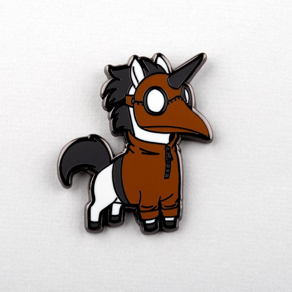 Unicorn of Pestilence Charm Pin TeeTurtle