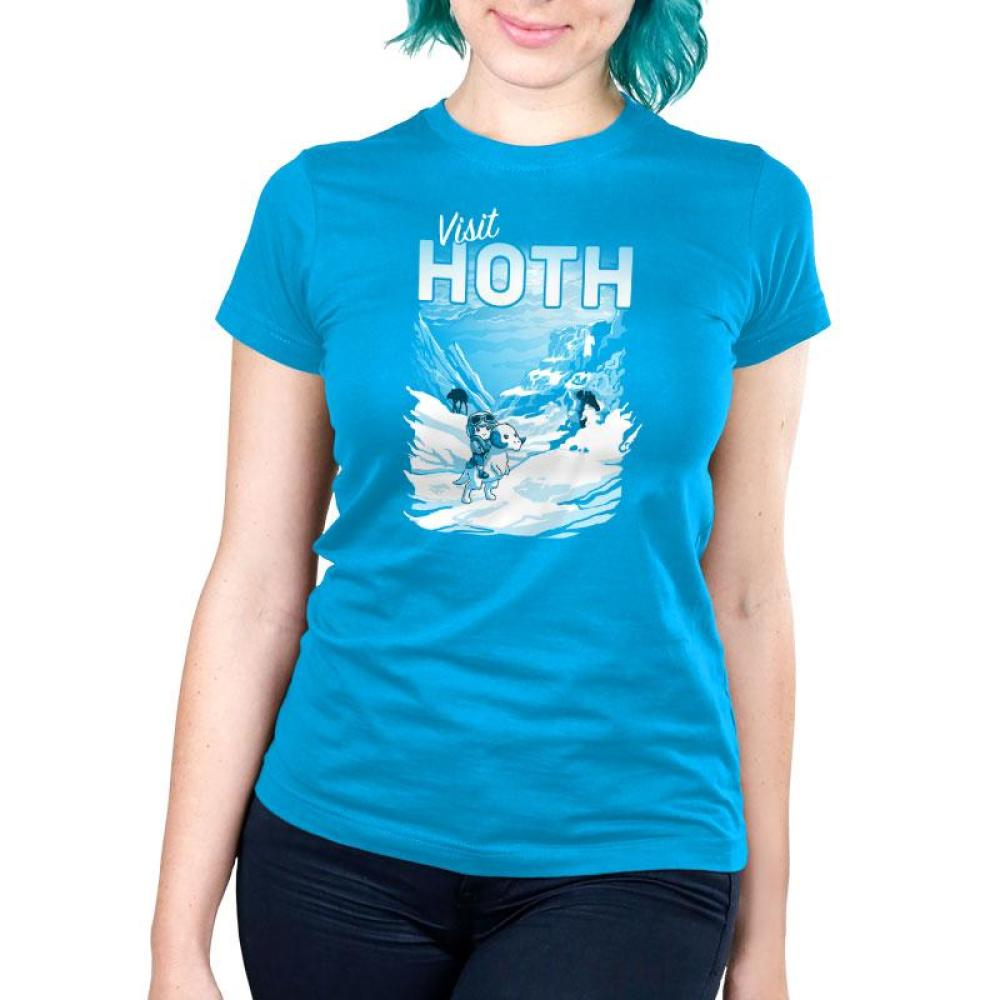 Visit Hoth Women's Ultra Slim T-Shirt Model Star Wars TeeTurtle