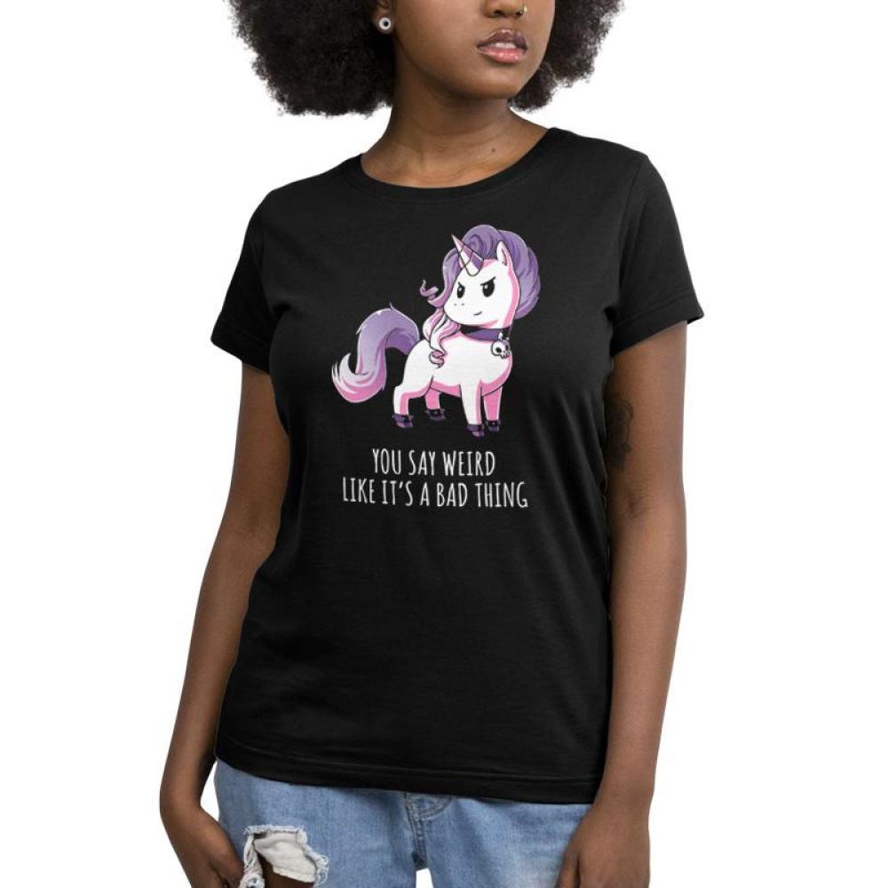 Weird Is Good Women's T-Shirt Model TeeTurtle