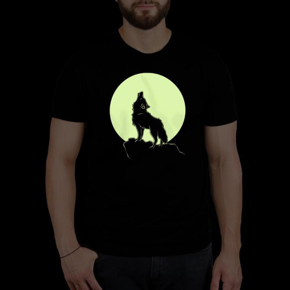 Howl At The Moon Glow Standard T-Shirt Model TeeTurtle