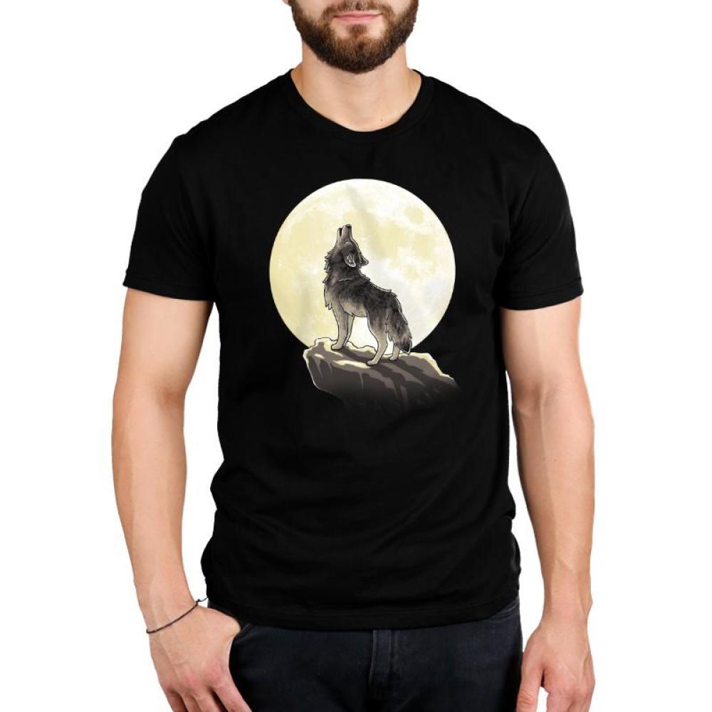 Howl At The Moon Standard T-Shirt Model TeeTurtle