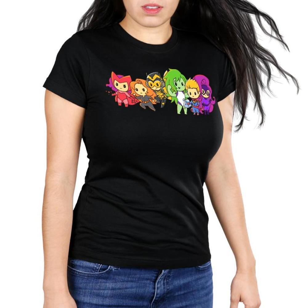 Women of Marvel Shirt Women's Ultra Slim T-Shirt Model Marvel TeeTurtle