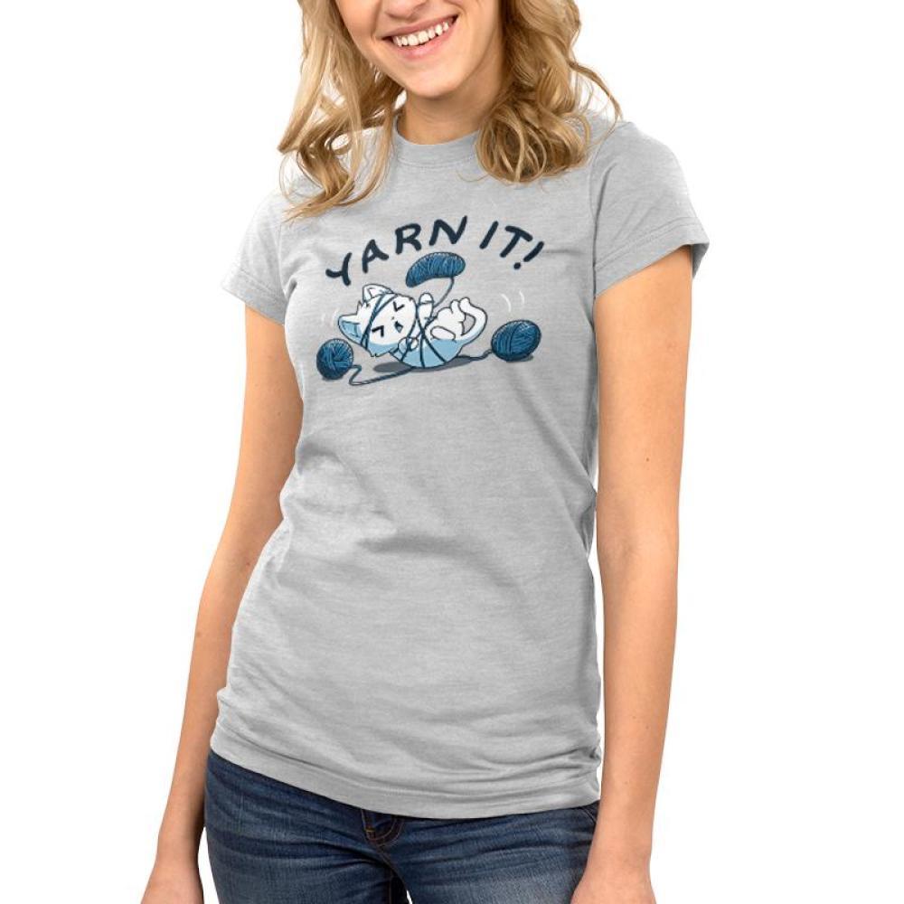 Yarn It! Juniors T-Shirt Model TeeTurtle