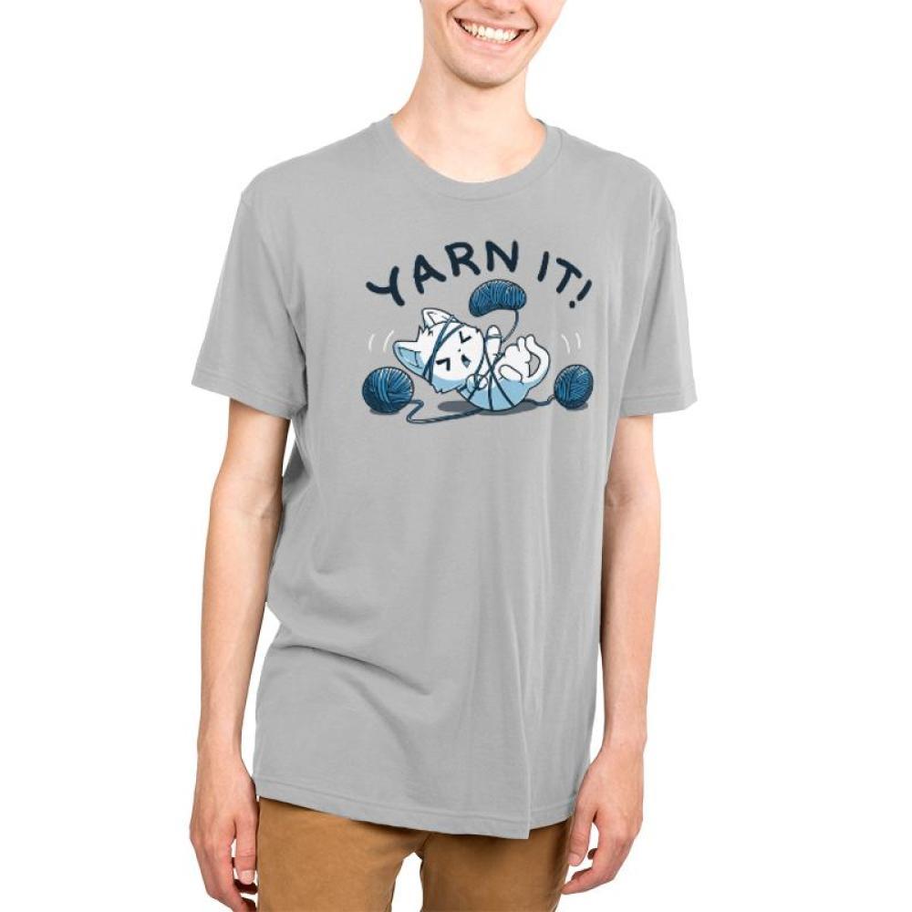 Yarn It! Men's T-Shirt Model TeeTurtle