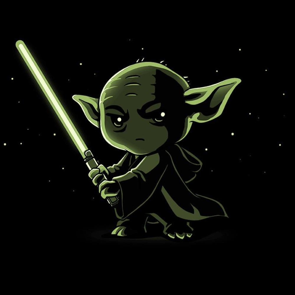 Lightsaber Glow (Yoda) t-shirt Star Wars TeeTurtle
