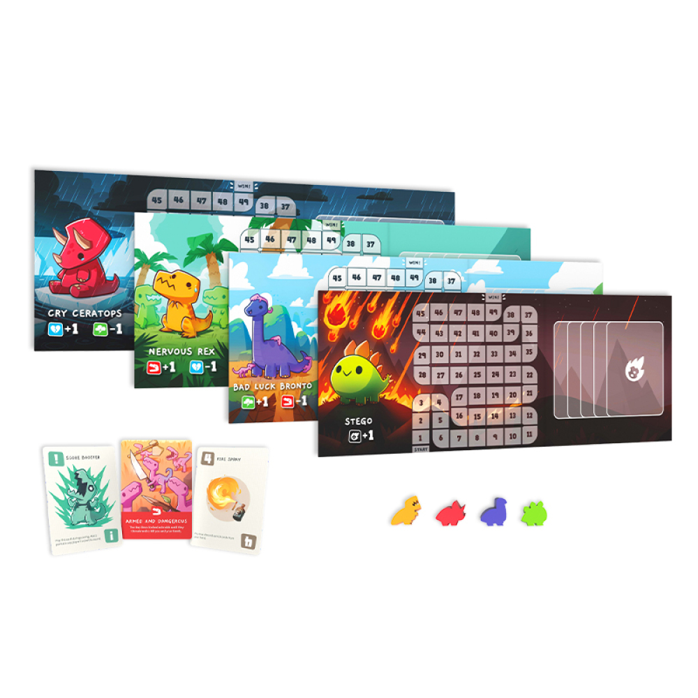 Happy Little Dinosaurs Base Game Contents