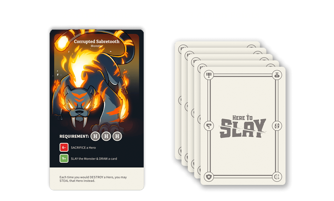 Attack monster for 2 points, draw a new hand for 3 points