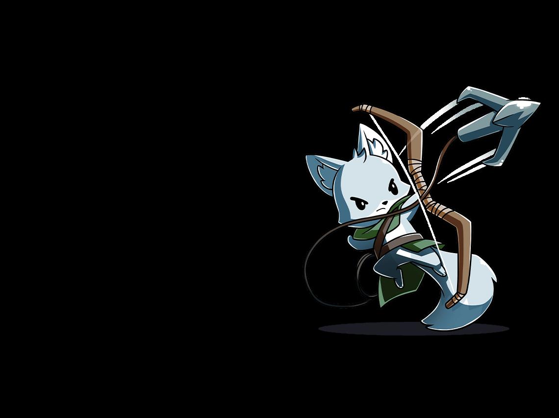 Archer cat shooting a grapling hook